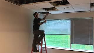Pulling cable through plenum ceiling