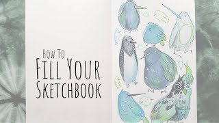 How to Fill Your Sketchbook / Sketchbook Ideas 03 / Birds
