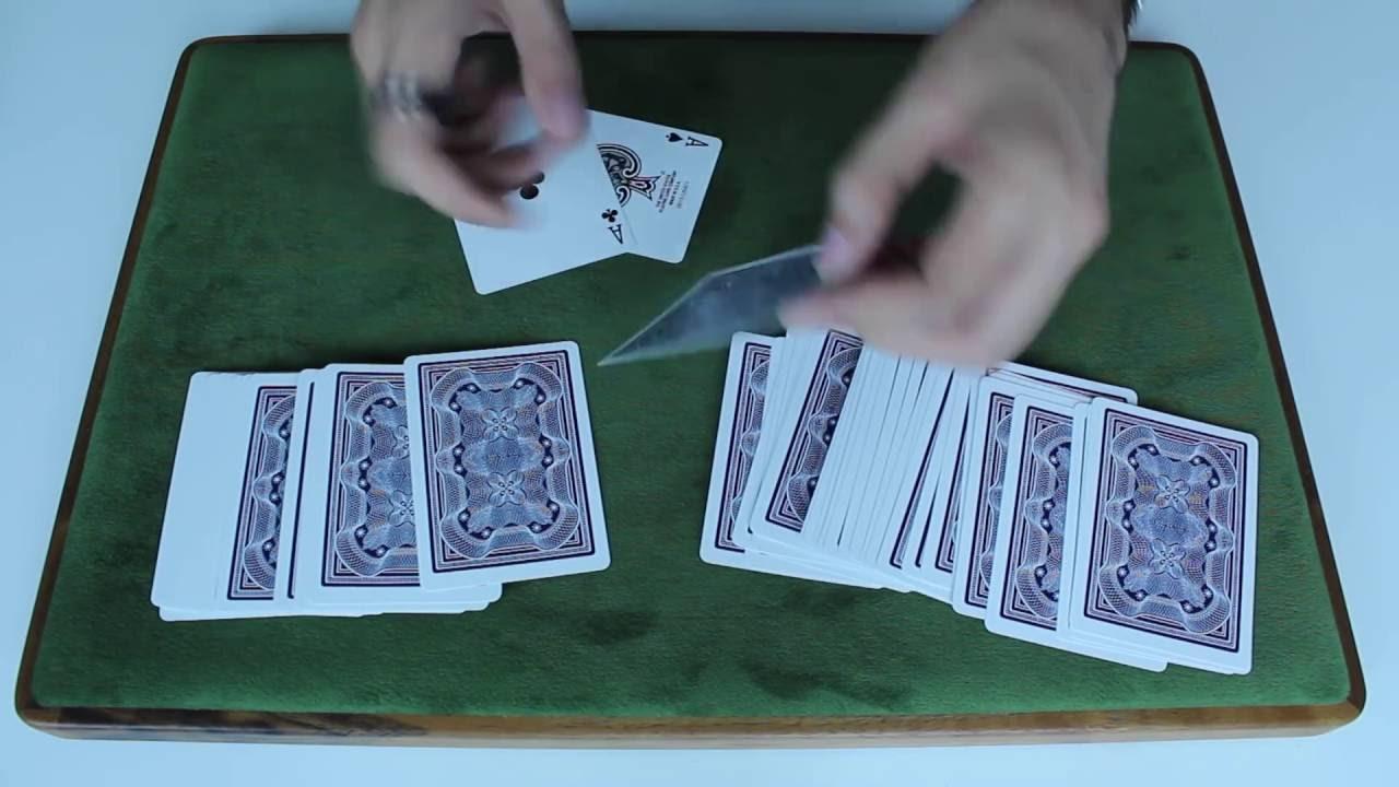 beginner card trick  simple sandwich trick tutorial