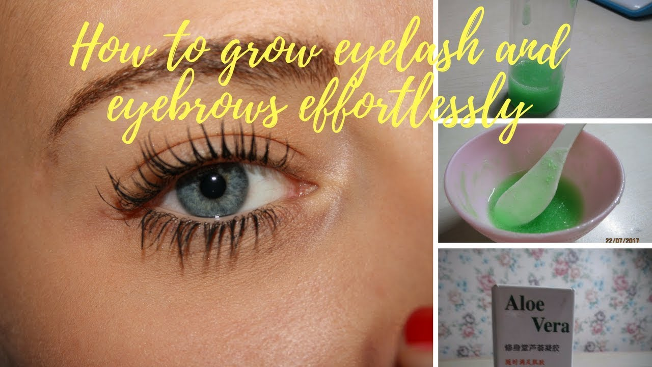 Grow eyelashes and eyebrows thicker and faster naturally ...