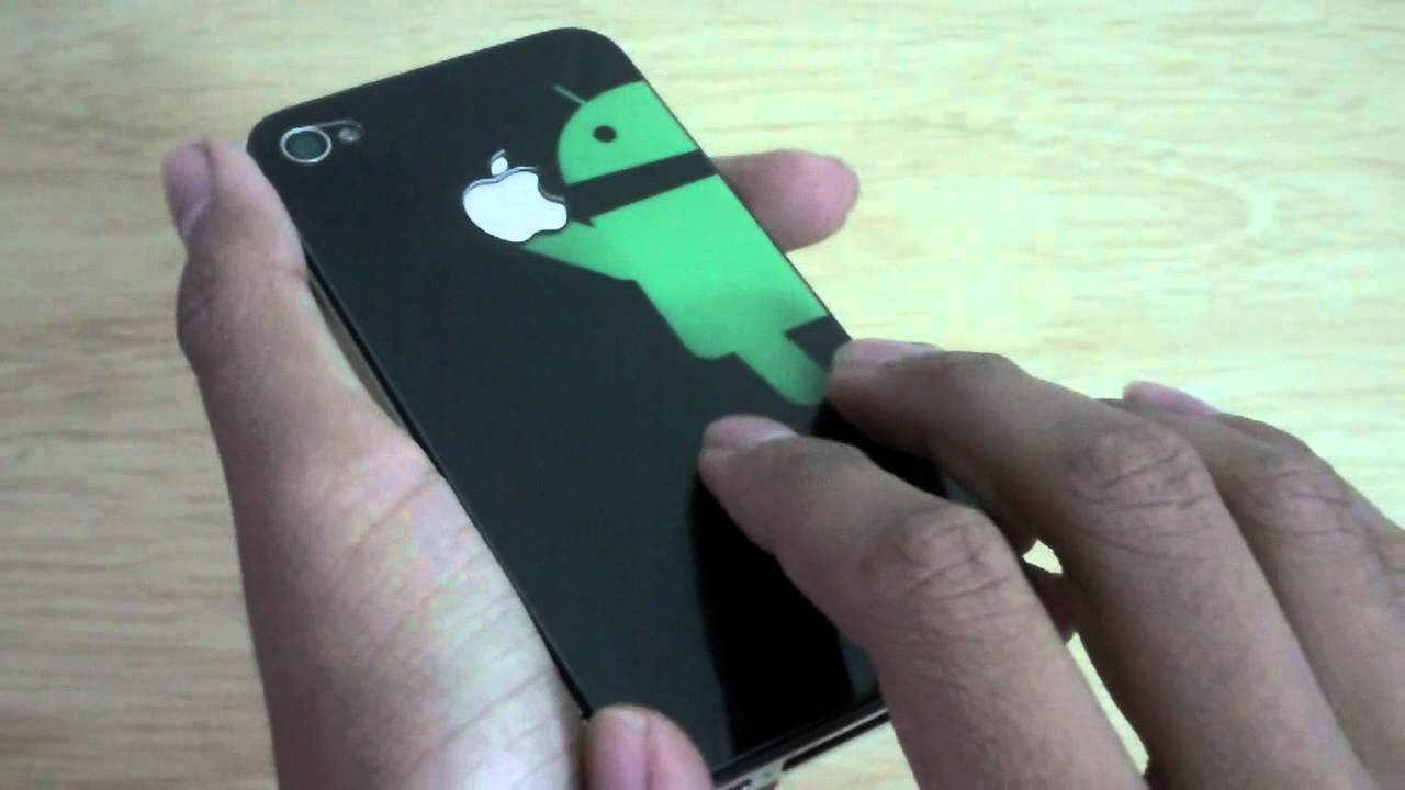 android eating apple logo skin review - youtube