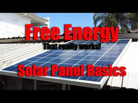 Free energy with Solar Panels off grid basics and learning.