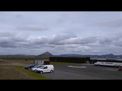 Northern Iceland on a windy day