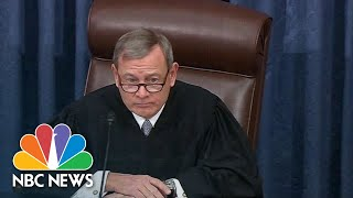 Chief Justice Roberts Declines To Read Question From Sen. Rand Paul   Nbc News