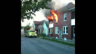 Fire on Council St. Muncie Indiana