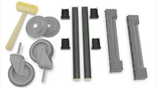 Camshelving Elements Series: Mobile Post Kit Assembly