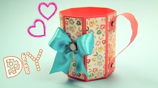 Кружка из бумаги. Подарок своими руками / Paper Mug Tutorial / ✿ NataliDoma