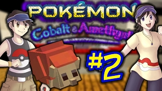 THE FIRST BATTLE WITH OUR RIVAL!!   Pokemon Minecraft Cobalt & Amethyst [2]