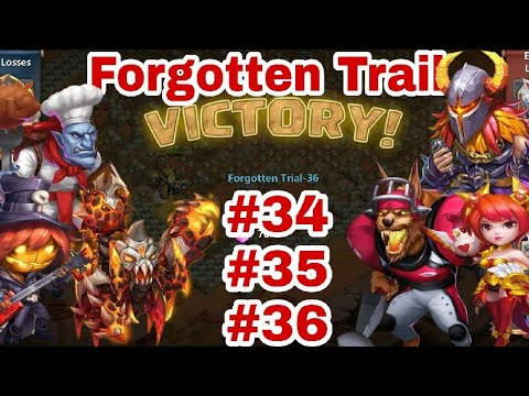 Forgotten Trial - 34/35/36 | Best Drop Point | Try This ..... | Castle Clash