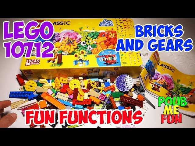 NEW 2018 Lego BRICKS and GEARS Fun Functions Set 10712 Unboxing - More than 244 pieces