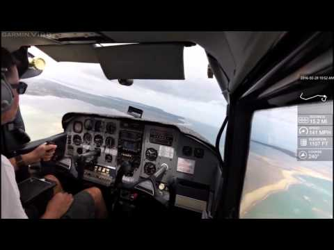 Flying from Inhaca to Maputo, Mozambique