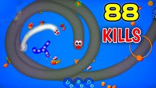 88 KILLS CHALLENGE || Worms Zone . io - Voracious Snake Gameplay || Bangla Gameplay Video | Ep:03 screenshot 3