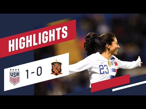 WNT vs. Spain: Highlights - Jan. 22, 2019