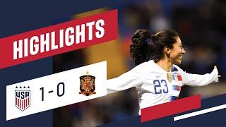 WNT vs. Spain: Highlights - Jan. 22, 2019