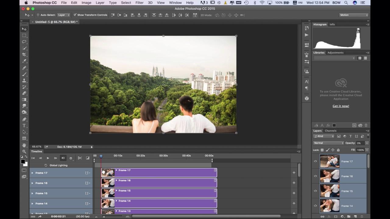 Cách Làm Video Slideshow bằng Photoshop