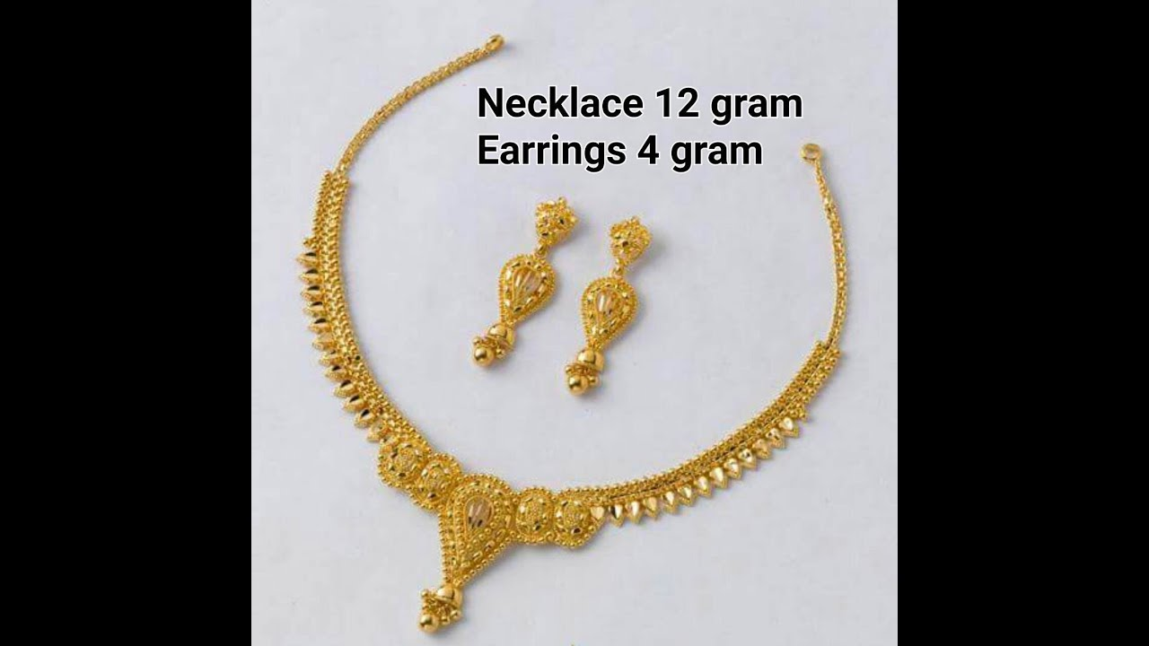simple jewellery weight gold set light models necklace designs latest