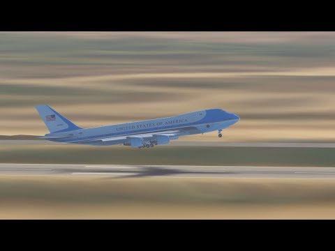 Trump Visits North Korea | Air Force One In North Korea | Infinite Flight Simulator!