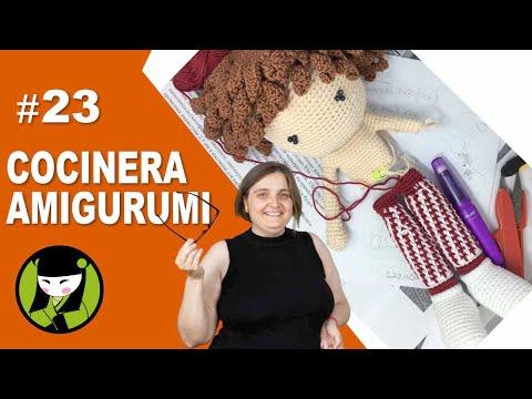COCINERA AMIGURUMI 23 unir piernas a crochet