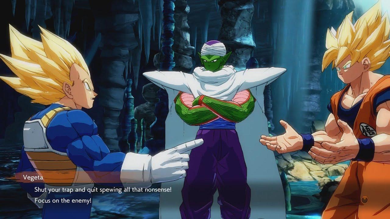 Dragon Ball Fighterz Goku Vegeta Piccolo Discuss Frieza S Loyalty