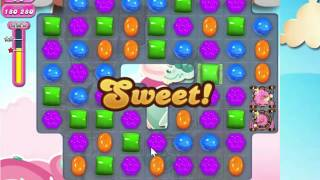Candy Crush Saga Level 1617 with 3 stars,  NO BOOSTERS!