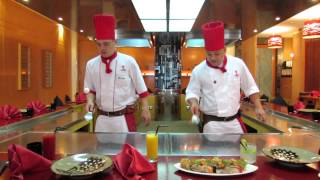 Teppanyaki show at Benihana in Beach Rotana Abu Dhabi