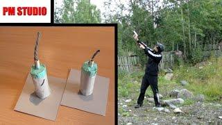 Как сделать ракетницу из спичек и пистонов