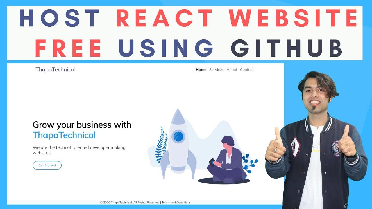 How to Host ReactJS Website Live for Free using GitHub in 2020