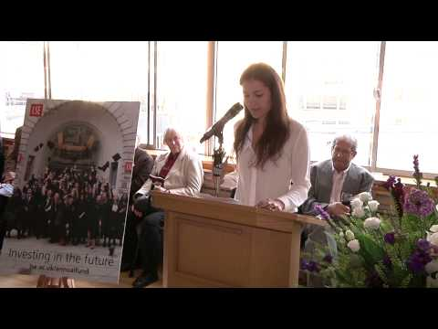 An LSE Annual Fund scholarship recipient says thank you