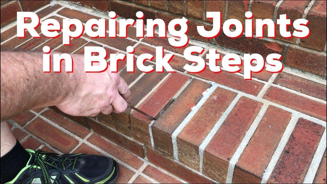 repairing mortar joints in brick steps how to diy easy