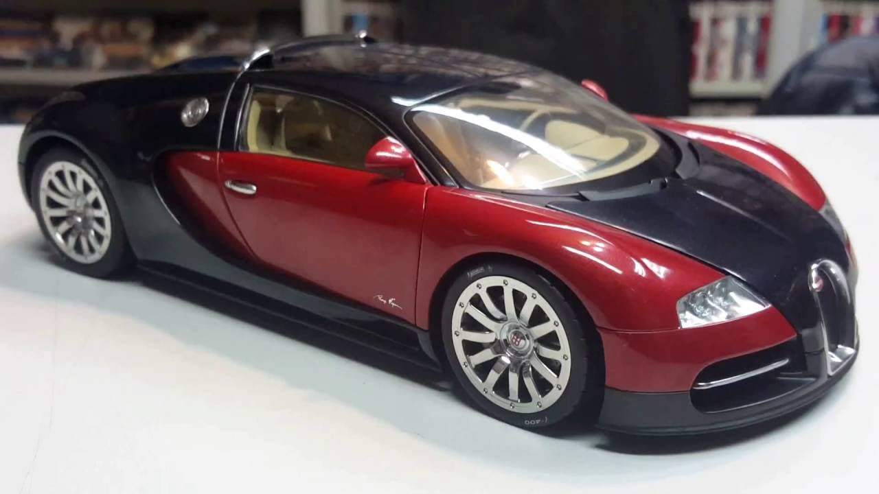 bugatti eb 16.4 veyron showcar black/redautoart signature series