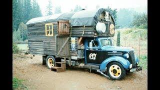 Удивительные ретро-грузовики переоборудованные в дома на колесах.