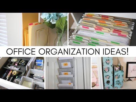 OFFICE ORGANIZATION IDEAS!