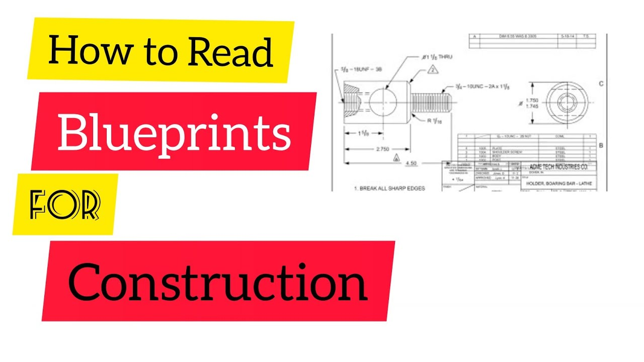 how to read blueprint for construction