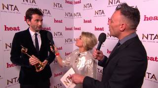 Backstage at the NTAs with David Tennant