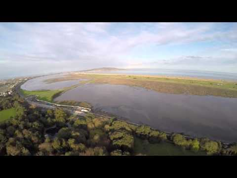 Clontarf, Dublin, by the sea, by drone