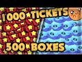 Spending 1000 tickets in ONE DAY - FARMING 500+ BOXES 🍊