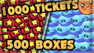 Download Spending 1000 tickets in ONE DAY - FARMING 500+ BOXES 🍊 Mp3 and Videos