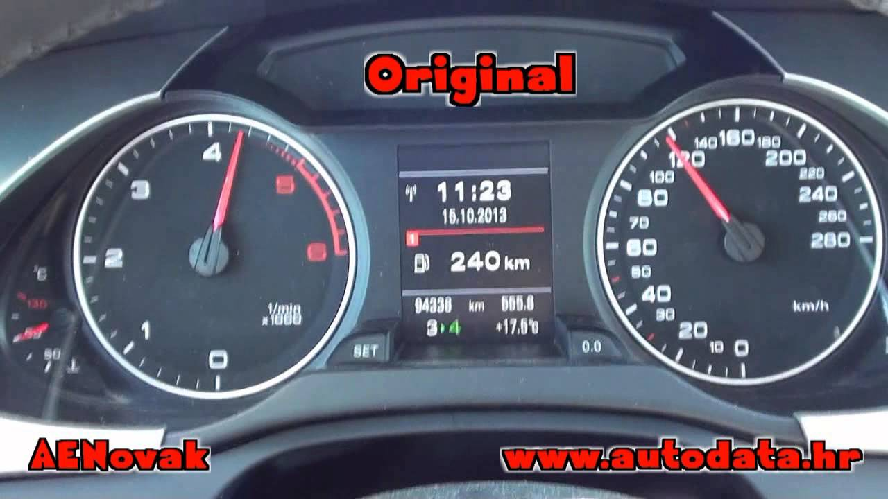 Audi A4 2.0 >> Audi A4 2.0 TDI 105kW (143ks) 2010g EDC17cp20 - AENovak Chip Tuning - YouTube