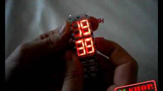 Часы наручные led watch samurai.avi(, 2011-04-17T20:35:38.000Z)