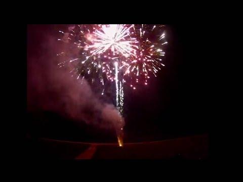 Summer Bash 2014 firework show with Phantom fireworks, labeled