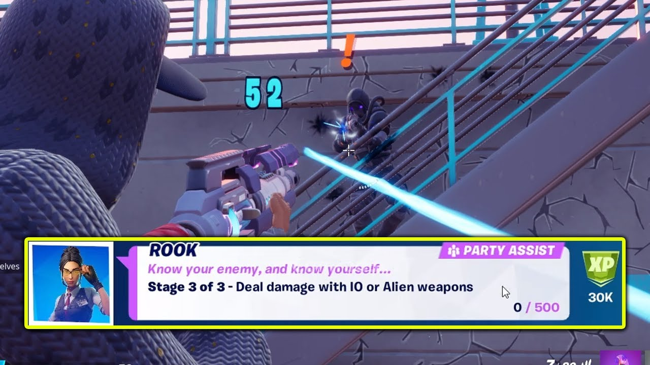Deal damage with IO or Alien weapons Fortnite