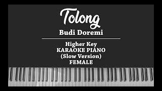 Tolong (FEMALE KARAOKE PIANO COVER) Budi Doremi (Slow version)