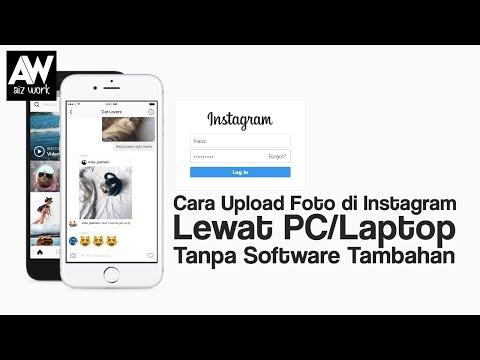 Cara upload postingan foto instagram lewat laptop / pc, jika kalian baru menggunakan instagram dekst.