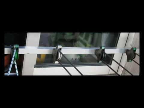 C mo cambiar las cuerdas del tendedero youtube - Tendederos de balcon ...