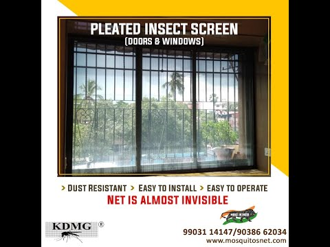 """Pleated Insect Screen installed on """"U"""" shape Balcony-  DEALERSHIP ENQUIRY SOLICITED. Call 9038662034"""