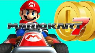 Mario Kart 7 Coin Runners - Wuhu Town, Sherbet Rink, Big Donut, Battle Course 1 (MK7 Gameplay)