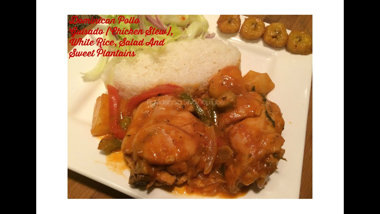 Dominican Pollo Guisado (Dominican Chicken Stew FULL TUTORIAL ...
