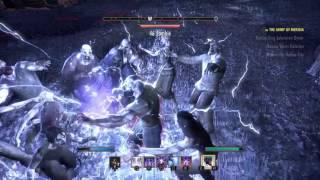 The Elder Scrolls Online lvl 49 Vampire Sorcerer full AoE PvE leveling build