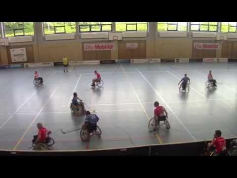 Rollstuhl Unihockey, Team Suisse, Demospiel Egg 2. Halbzeit