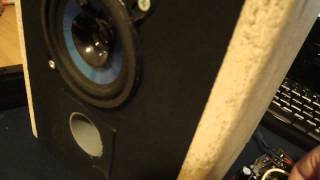 Diy Cheap 2way Speaker Test + Repaired Tea2025 Amplifier